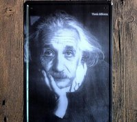 albert arts - Thinking about Albert Einstein Creative posters cm decorative sheet metal painting decorative crafts and gifts