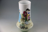 beauty vases - Hui min zhao powder enamel beauty figure large vase The ancient porcelain and old goods Chinese art collection