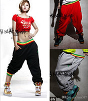 baggy dance pants - 2015 Womens and Mens Unsex Casual Harem Jogging Pants Hip Hop Dance Sports Trousers Baggy Girls Ladies SweatPants Jogger Boys Slacks