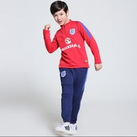 best training collar - 2016 kids England Brazil Dutch Turkish Soccer Tracksuit Best Quality Long sleeve Training suits for Football uniforms