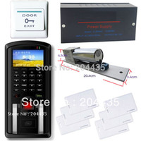 Wholesale Complete Fingerprint RFID Card Reader Access Control System Kit With Magnetic Door Lock DIY Access controller