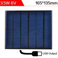 ELEGEEK 3.5W 6V Solar Cargador Resina Epoxi Monocristalino de células solares de células solares mini panel solar con USB Outpot cargador para Banco de energía y bricolaje