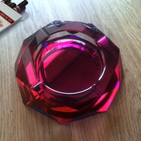 Wholesale ashtrays for cheroot and cigar shining bright red wine colored large size