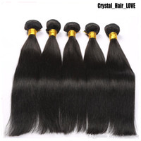 Wholesale 7A Quality Brazilian Hair Unprocessed Indian Malaysian Peruvian Human Straight Hair Weaves Silk Straight Hair