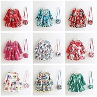 animal naturals handbag - 12 Style Cartoon European Style Girl s Dresses Dobby With Handbag Kids Clothes Princess Party Tutu Dress Children Christmas Clothes