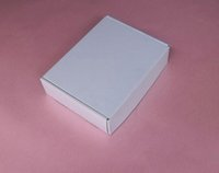 Wholesale 10 Size x5 x1 inch x140x40mm Paper packaging Aircraft box Packaging White Paper Gift Box White Underwear box
