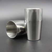 Wholesale High Quality Stainless Steel Double Wall Wine Goblet Cup Stemware Drinks Cup Martini Drink Bar Party Drinkware ml