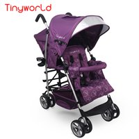 baby lightweight strollers - Fashion Baby Stroller for Twins Double Seat Baby Jogger Twins Stroller Lightweight Folding Pushchair Can Sit Can Lie