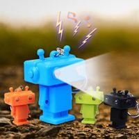 antique robot toys - by DHL LED Cartoon Animal Keychain Robot Keyring with Sound LED Flashlight Toy Keychain