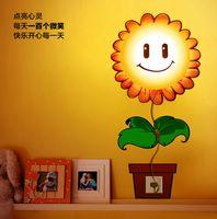 Wholesale New Wallpaper Stickers Wall Lamp Kid Bedroom D Cartoon Night light Home Decor Children Room DIY