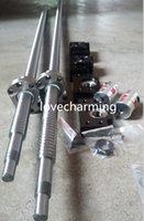 ball bearing mount - 2sets antibacklash ballscrew RM2005 mm end Ball Screws sets BK15 BF15 end support bearing mount Coupling mm