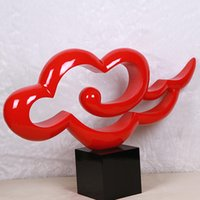 Abstract Clouds Sculpture Top Grade Home Accessories Ornaments Creative Minimalist Modern Villa Resin Sculpture Crafts Furnishings
