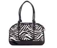 Wholesale Fashion Pet Dog Cat Supplies Portable Carriers Totes Handbag Travel Purse Bag ZEBRA