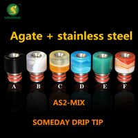 agates prices - New prodcuts in agate ss wood ss drip tip Someday factory price drip tip Jade drip tip fit for Hammer mod X6 atomizer
