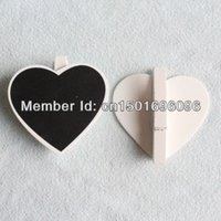 Wholesale Mini Small White Frame Peach Heart Blackboard Clip Peg Wooden CHALKBOARD For Wedding Party Decoration
