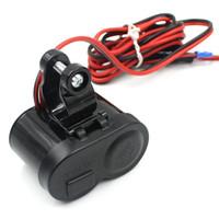 Wholesale CS Motorcycle Scooter Handlebar Waterproof USB Cigarette Lighter Charger LED Blue Light Indicator Power Port Outlet Socket