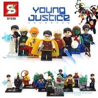 aqualad young justice - SY250 DC Young Justice Minifigure Kid Flash Super Boy Miss Martian Artemis Aqualad Nightwing Robin Teen Titans Minifigure Blocks