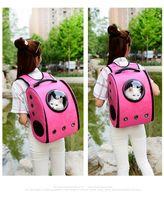Wholesale DHL Breathable Puppy Carrier Astronaut Capsule Pet Backpack Transparent Pet Dog Cat Carrier Multi function Dog s Carrier Colors