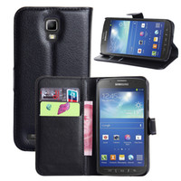 galaxy s4 active - Lichi PU Leather Wallet case for Samsung Galaxy S4 Active i9295 Protective Stand with Card Slot Cell Phone Cover for Samsung Colorful