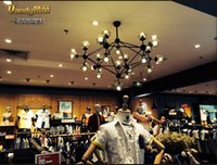 Wholesale The Nordic creative arts lamp personality coffee restaurant clothing store the sitting room the bedroom lamp glass chandelier magic beans