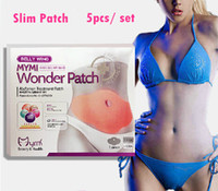 Wholesale 200 Set DHL2016 Newest MYMI Wonder Patch Abdomen Treatment Patch Thin Belly Thin Stick Stick to Lose Weight Slim Patches Set TVA003