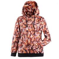 bee sweatshirt - New Arrival Style Women Girl many Bees beehive animal D Prints Interloop Hooded Sweatshirt Sport Suit Outside Running Hoodies