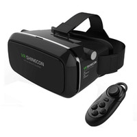 Wholesale New Shinecon VR Virtual Reality D Glasses Headset Oculus Rift Head Mount Movie Game with Bluetoot Controller For phone