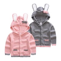 Wholesale 2016 children clothing sweater baby cardigan kids sweaters children up clothing girls boys knitted sweater cotton clothing thick wool