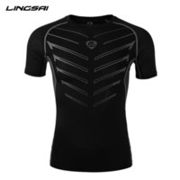 asian clothing brands - Brand Clothing Compression T shirt New Bodybuilding Fitness Short sleeve Tights Protection Of Muscle Men TShirt Asian Size LS13