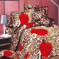 baby bedding roses - 4PCs D Print Rose BEDDING Bed Sheets Home Textile Cover Pillow Set Queen