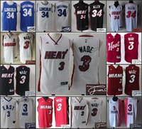 Wholesale 2016 A High Quality new arrival lincon Ray Allen Miami Dwyane Wade signature jersey signed for mens
