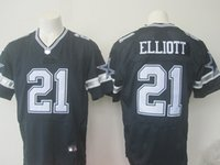 Wholesale 2016 NEW Draft Ezekiel Elliott Cowboys blue white elite Football Jerseys for Men Mix Order