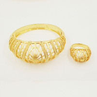 beautiful outlet - Factory Outlets Middle East Fashion Beautiful Bracelets Bangles High Quality k Gold Plated Bracelets Jewelry Set For Women