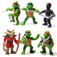 abs turtles - Christmas gift Hot sale Teenage Mutant Ninja Turtles TMNT Action Figures Toy Set Classic Collection Toys for Kids