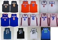 Wholesale top quality they burn GARNETT PORZINGIS ANTHONY running jerseys embroidery LOGO with then mix order new fabrics retro Jersey is