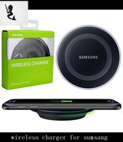 iphone charger - 2016 Universal Qi Wireless Charger For Samsung S6 edge s7 Edge mobile pad with retail package with usb cable fast Charging
