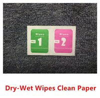alcohol glasses - Dry Wet Wipes For Mobile Phone LCD Screen Clear Tempered Glass Protector Film Alcohol Cleaning Cloths