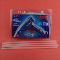 Wholesale EU US Plug Temp Heater Hot Glue Gun W Handy Professional with cm Glue Sticks Graft Repair Heat Ggun Pneumatic Tools Electric