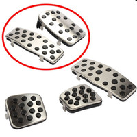 automatic clutch - 9 Moon Stainless Steel Manual Automatic Clutch Throttle Brakes Foot pedal For Chevy Chevrolet Cruze Auto Accessories