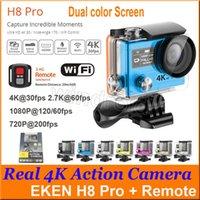 EKEN H8 pro ultra 4k HD 2 pouces 170 ° HDMI WIFI caméras d'action double couleur écran 1080p 720p 200fps + 2.4G télécommande 30 m étanche caméra de sport