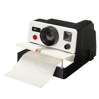 Wholesale Crea tive Napkin Plastic Box Camera Shaped Roll Tissue Canister Dispense Toilet Paper Funny Holder Hot Sale