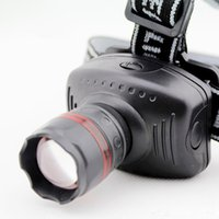 Wholesale Hot Selling High Quality W LED Headlights Torch HeadLamps Zoomable Flashlights Hiking Camping Outdoor Gear Lamps R20