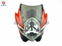 Wholesale treetfighter Street fighter Spyder Fairing Motorcycle Headlight headlamp red MANGA LAMPENMASKE SCHWARZ SCHEINWERFER SPYDER STIL M50063 he