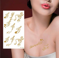 Wholesale Body art chain gold tattoo temporary tattoo tatoo flash tattoo metallic tattoo jewelry temporary tattoos stickers sexy tattoos