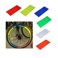 Wholesale 6 Fluorescent MTB Bicycle Wheel Reflective Stickers for Car Motorcycle Bike Cycling