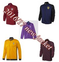 Wholesale 2016 top club jacket TOTTI RONALDO madrid Winter Football madrid Training Jacket Soccer Jacket Soccer Club Training Soccer Jacket
