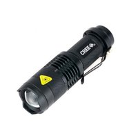 Wholesale Mini LM Waterproof LED Flashlight with colors Modes Zoomable Portable LED Torch penlight use AA
