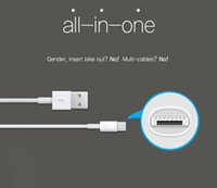 Wholesale New design fast charging data cable in for iphone and micro usb cable one cable for iphone androi