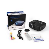GP70 1080P HD mini proyector portable de la TV EMP LED de cine en casa Beamer Multi-Media del jugador del juego video del USB SD Fácil Micro Cine Proyector