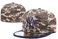 baseball style hat - New Hats Fitted Caps Baseball Hat Camo Color Team NY Hat Army Style All Size Mix Match Order All Caps High Quality Hat